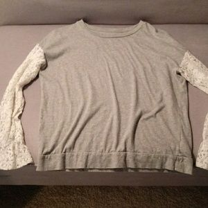 Gap Kids Girls size XXL shirt with lace sleeves